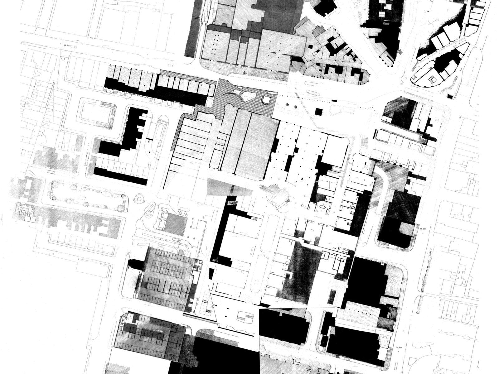 Nolli plan of central Brighton