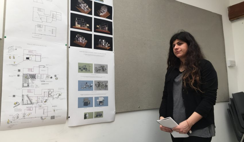 Rafaella Aristodemou Presenting Her Final Design Thesis Project At Crits Photo Christo Meyer