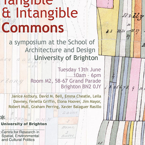 Tangible And Intangible Commons A Symposium At Brighton School Of Architecture Design